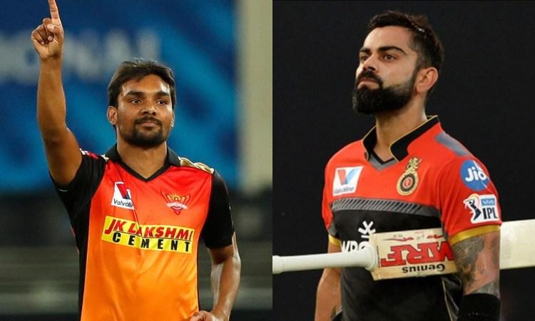 Sandeep Sharma and Virat Kohli