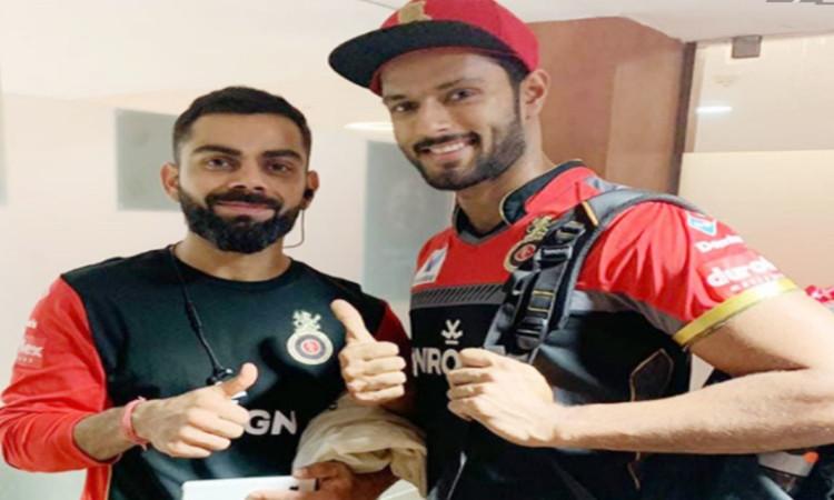 Shivam Dubey and Virat Kohli