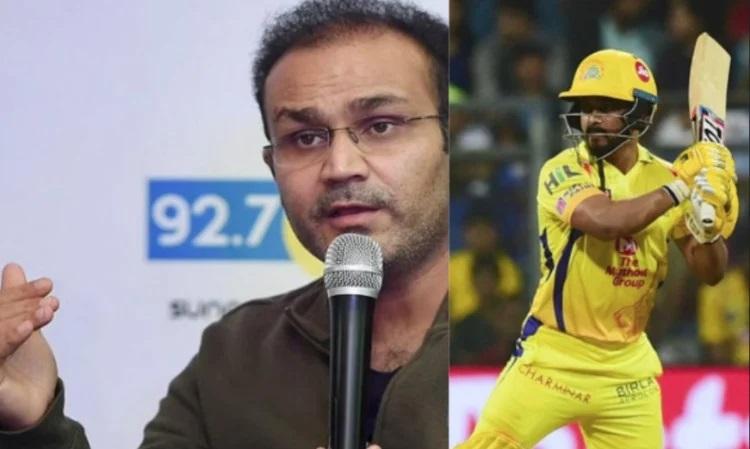 Virender Sehwag and Kedar Jadhav
