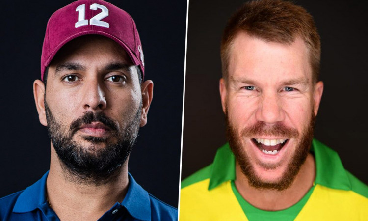 David Warner and Yuvraj Singh