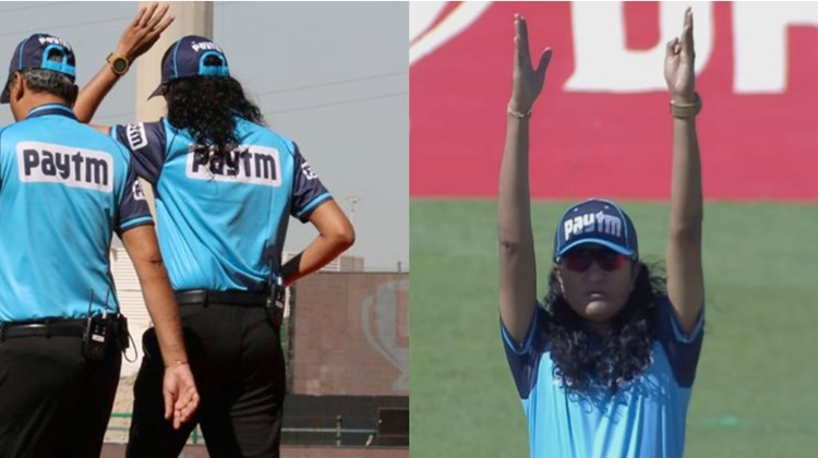 during srh and kkr match umpire Paschim Pathak caught everyone attention because of this reason in h