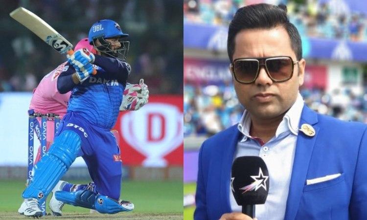 former indian cricketer Aakash Chopra reacts after Delhi Capitals batsman Rishabh Pant doppelganger