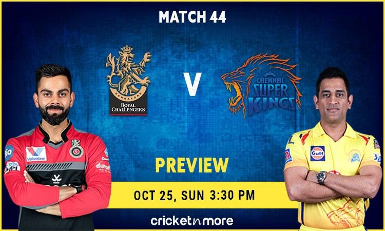 ipl 2020 - chennai super kings vs royal challengers bangalore – fantasy cricket tips, prediction & p