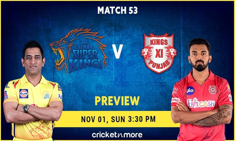 ipl 2020 chennai super kings vs kings xi punjab fantasy cricket tips prediction pitch report