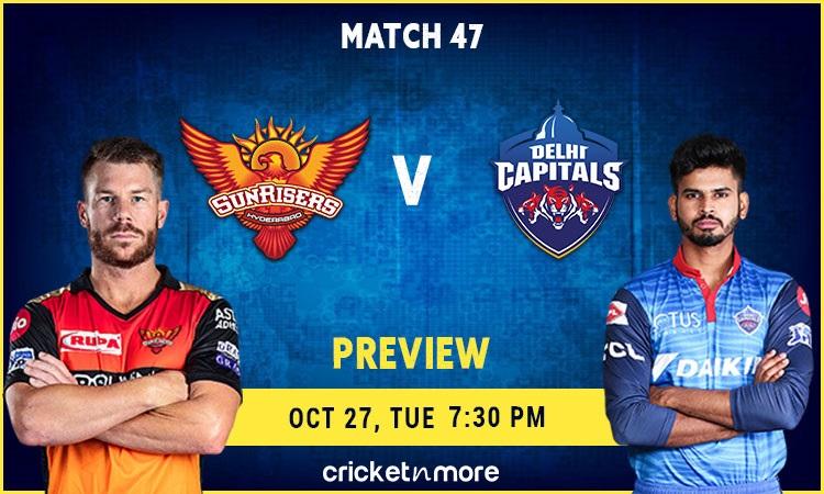 ipl 2020-delhi capitals vs sunrisers hyderabad–fantasy cricket tips, prediction & pitch report