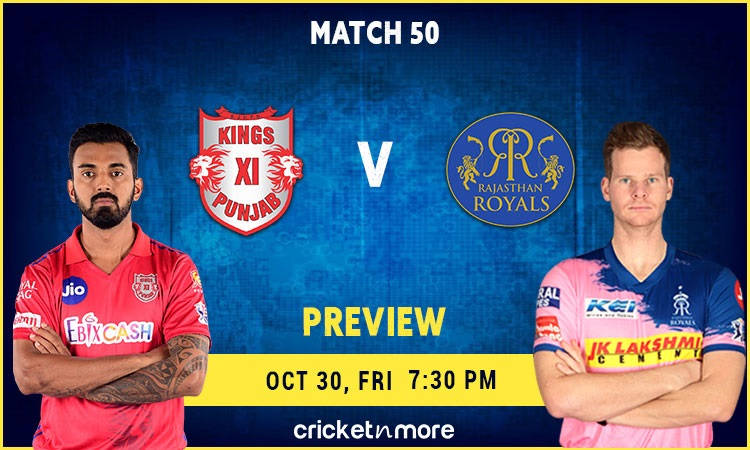 ipl 2020 kings xi punjab vs rajasthan royals fantasy cricket tips prediction & pitch report