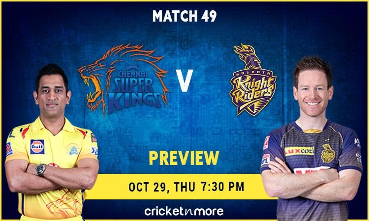 ipl 2020 kolkata knight riders vs chennai super kings – fantasy cricket tips, prediction & pitch rep