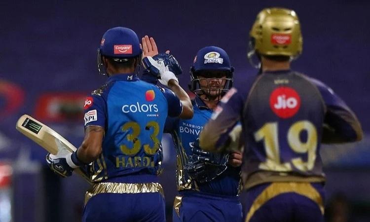 ipl 2020 mumbai indians beat kolkata knight riders by 8 wickets in punjabi