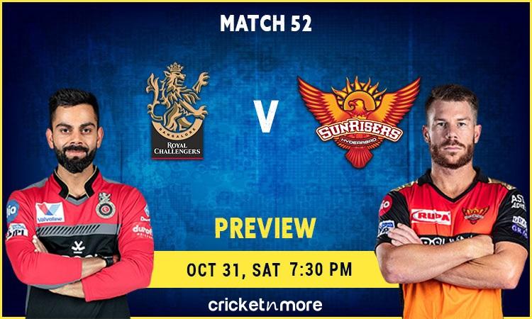 ipl 2020 royal challengers bangalore vs sunrisers hyderabad fantasy cricket tips, prediction pitch r