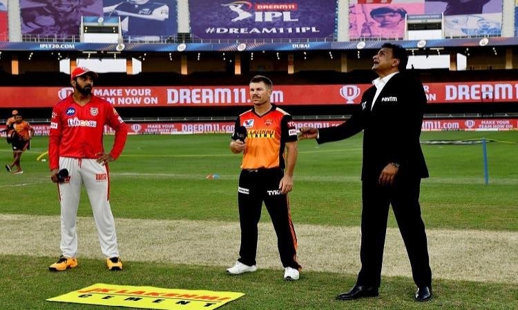 ipl 2020 sunrisers hyderabad opt to bowl against kings xi punjab, mayank agarwal out