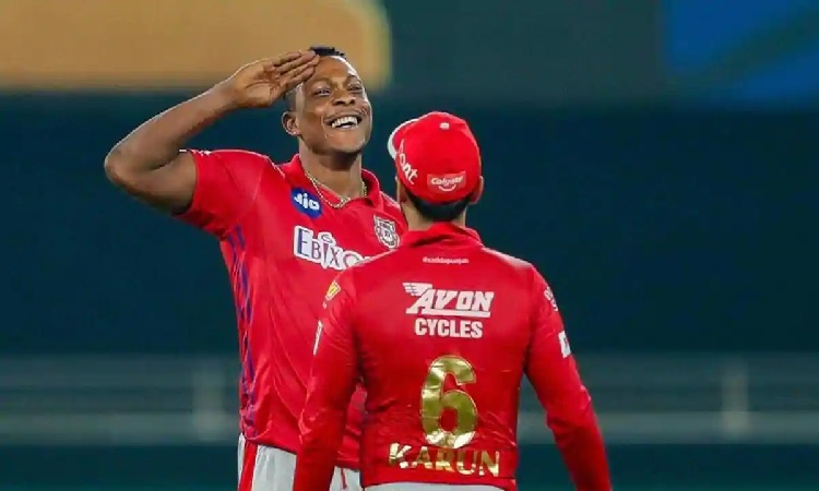 kxip bowler sheldon cottrell fit for the match against royal challengers bangalore