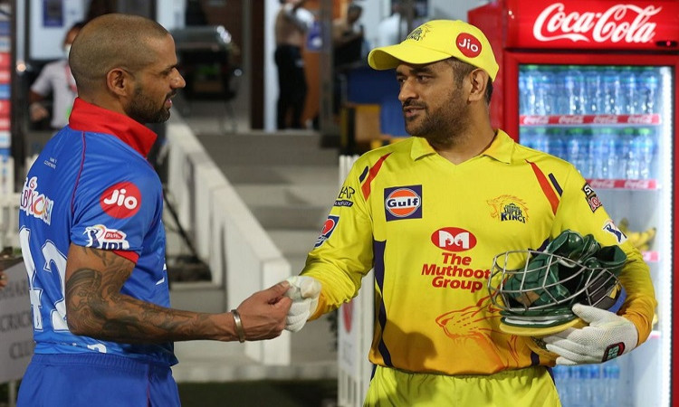 after lost against Delhi Capitals CSK captain MS Dhoni congratulates Shikhar Dhawan on his first ip