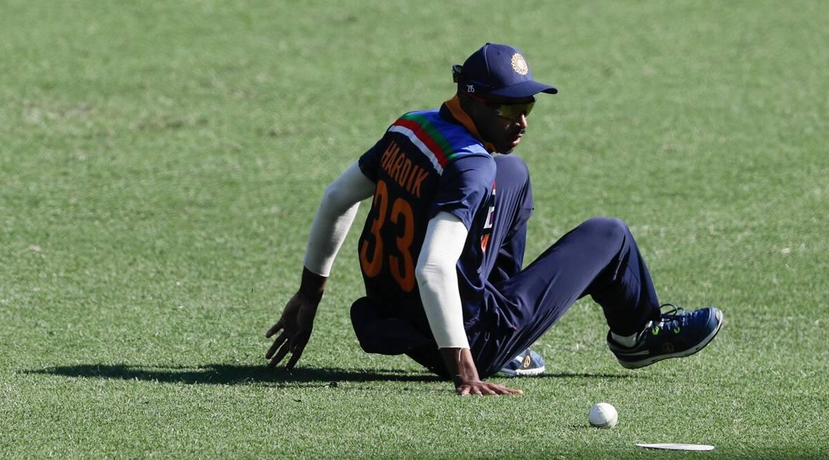 Australia vs India Hardik Pandya is seen bowling in the second ODI against Australia