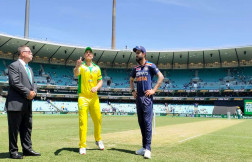 Australia won the toss and opted to bat first against India in 1st ODI