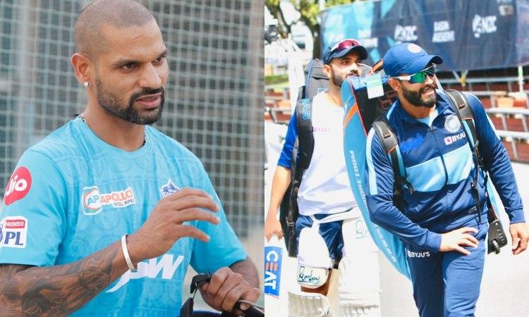 DC vs SRH Delhi capitals player Shikhar Dhawan surprised on seeing teammate Ajinkya Rahane with Ravi
