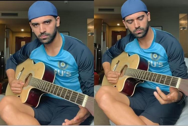 Deepak Chahar With Guitar