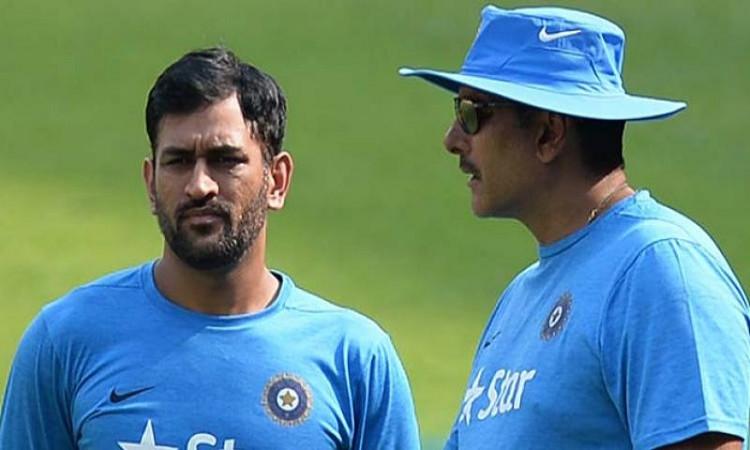 Dhoni and Ravi Shastri
