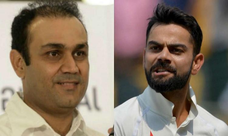IPL 2020 Virender Sehwag defends RCB captain Virat Kohli in hindi