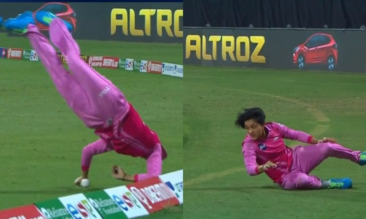 In Womens T20 Challenge Trailblazers player Nattakan Chantam Pulls Off Outrageous Save watch video i