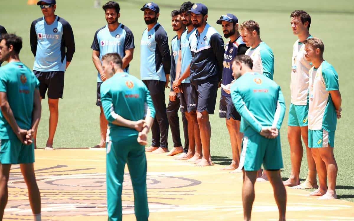 India- Australia players take part in 'barefoot circle' ceremony against racism