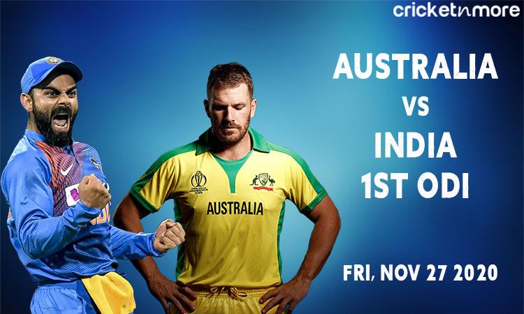 India vs Australia 1st ODI Probable XI and Head to Head Record
