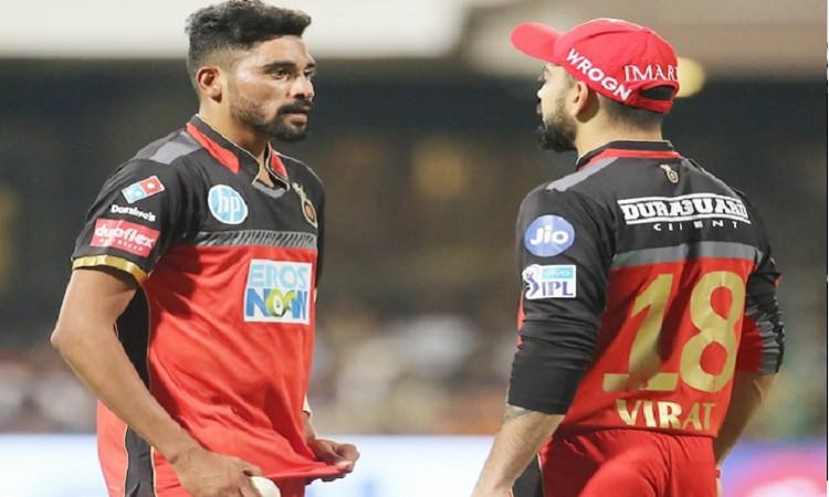 Kohli and Mohammed Siraj