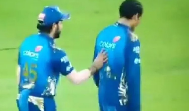 MI captain Rohit Sharma heartwarming gesture for rahul Chahar watch video in hindi
