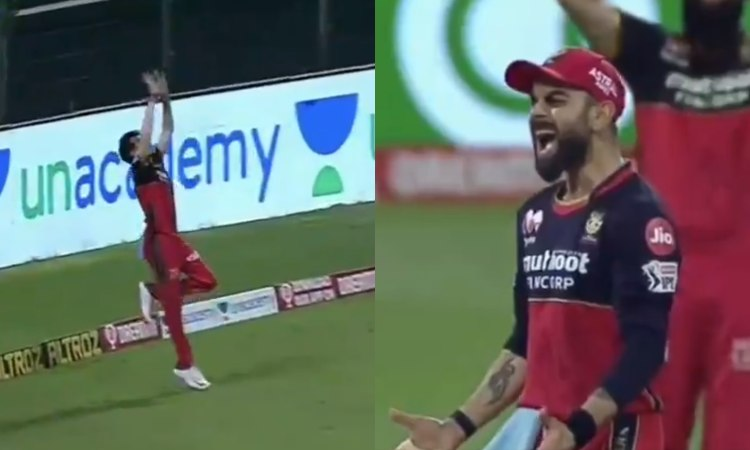 RCB captain Virat Kohli gave an earful to yuzvendra chahal after he missed a catch of marcus stoinis
