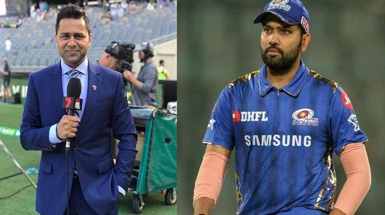 Mumbai Indians captain Rohit Sharma gave a befitting reply to Akash Chopra in hindi