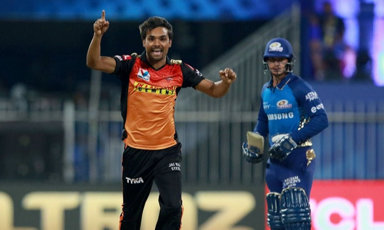 ipl 2020 srh vs mi sandeep sharma now holds the record of most wickets in powerplay