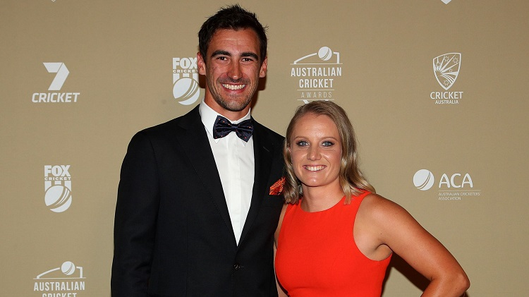 Starc With His Wife Alyssa Healy