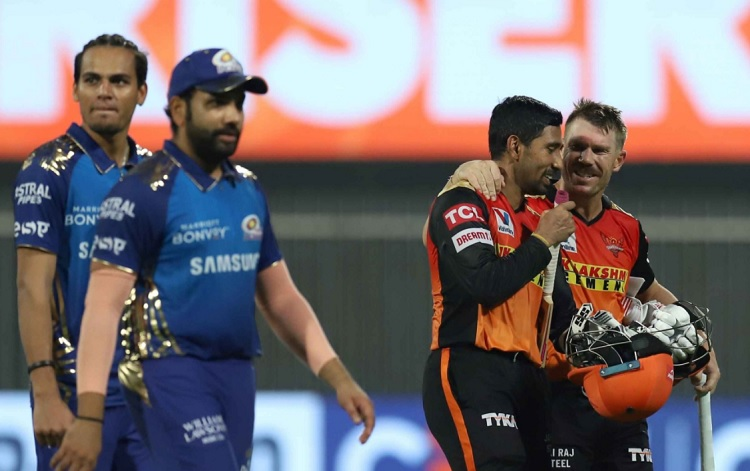 Stats Highlights Sunrisers Hyderabad beat Mumbai Indians by 10 wickets