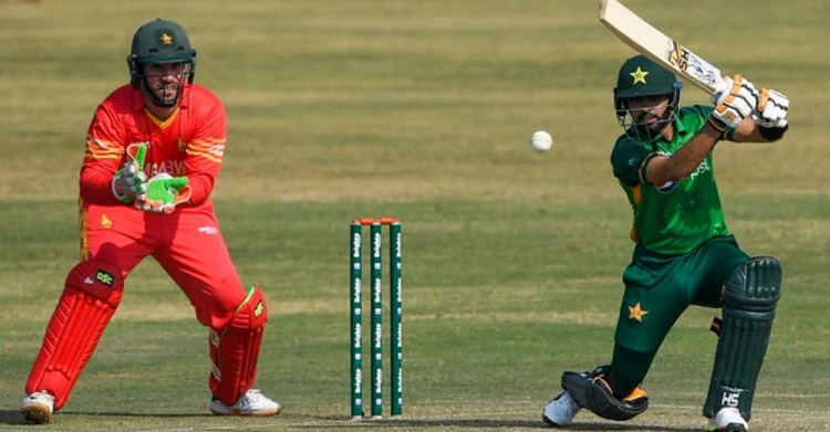 babar azam helps pakistan beat zimbabwe by six wickets in 1st t20i