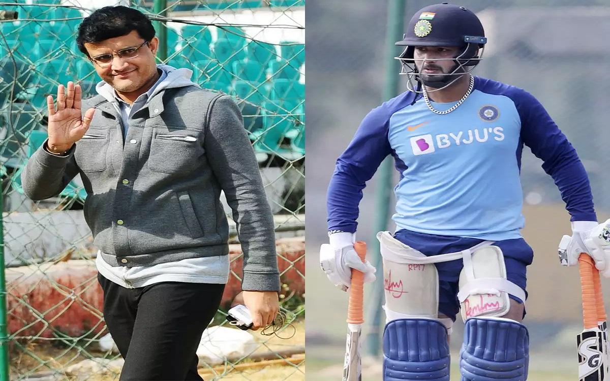 india tour of australia 2020-21 sourav ganguly talks about rishabh pants form