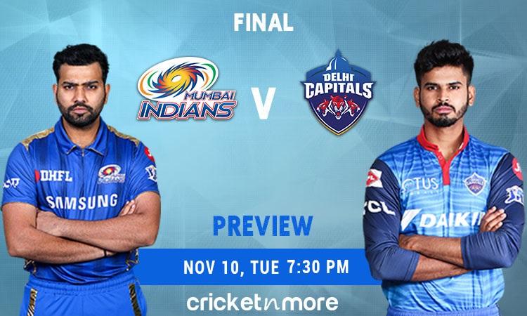 ipl 2020 final delhi capitals vs mumbai indians fantasy cricket tips prediction pitch report