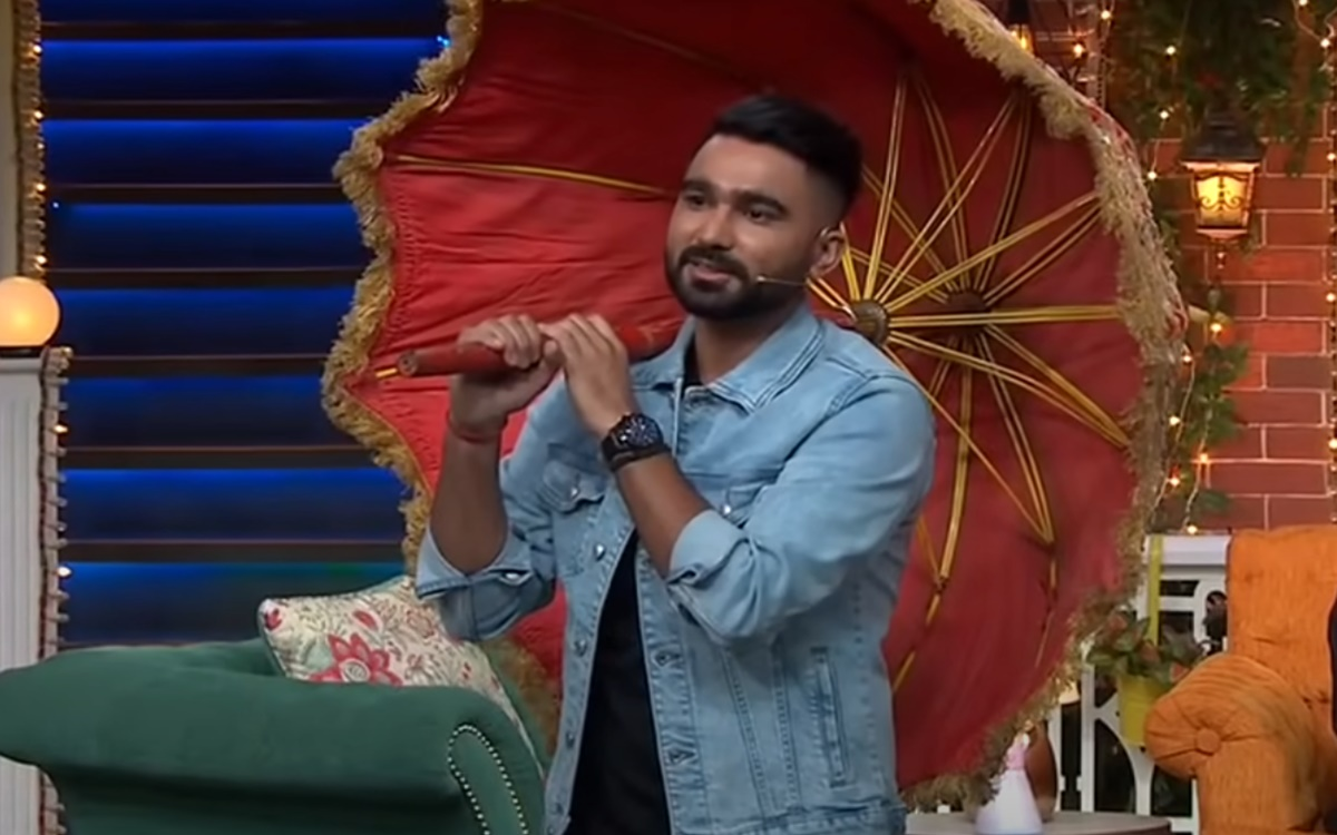 Axar Patel Nitish Rana Rahul Tewatia and Ravi Bishnoi in The Kapil Sharma Show watch video