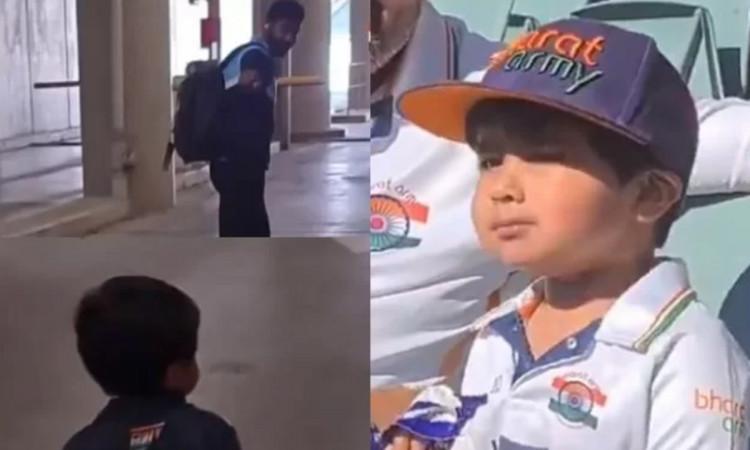 Jasprit Bumrah biggest fan Jiyaan gets a chance to meet his hero watch video