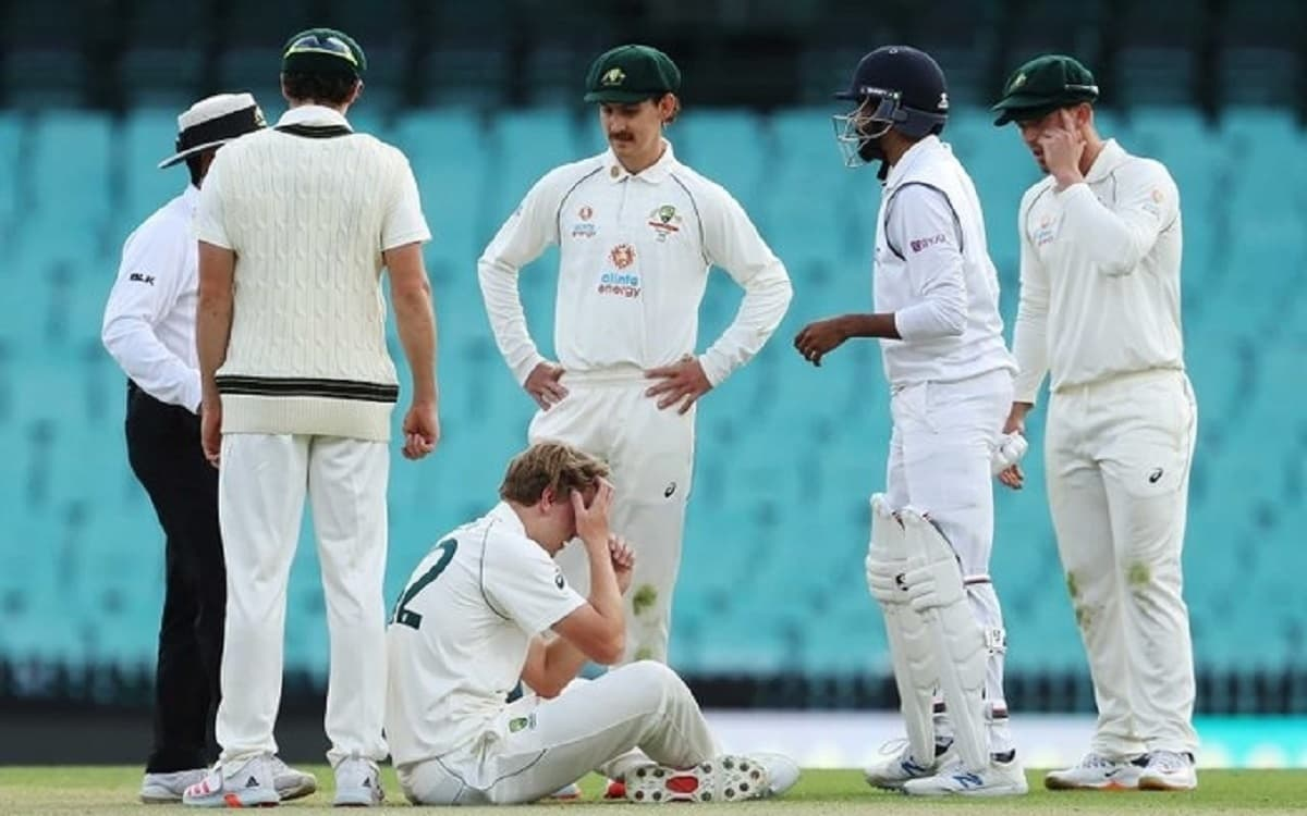 Cameron Green hit in the head while bowling in warm-up game
