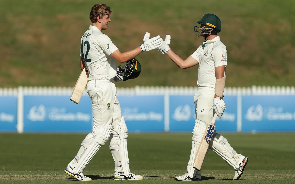 Australia A 286/8 at stumps after the Indians declare at 247/9