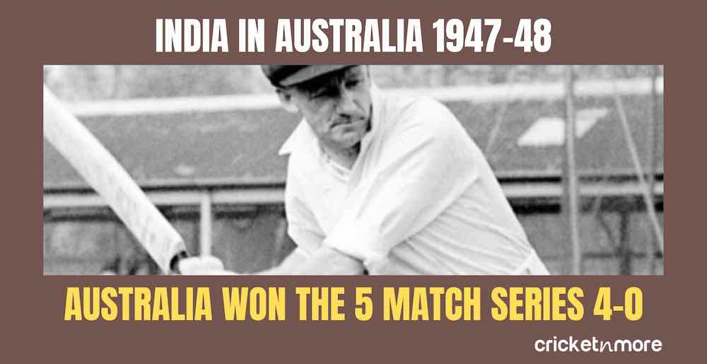 India In Australia 1947 48 Images