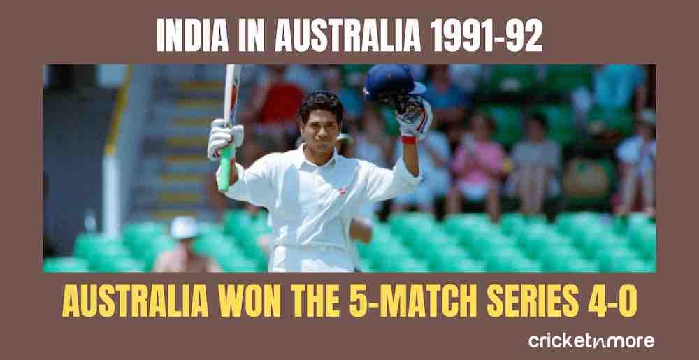 India In Australia 1991 92 Images