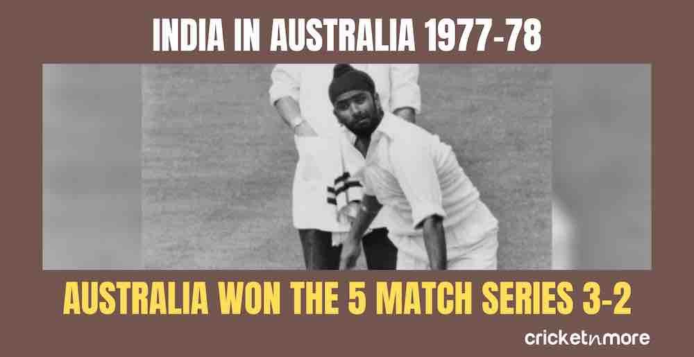 India In Australia 1977 78 Images in Hindi