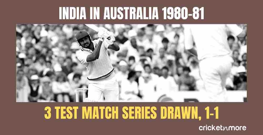 India In Australia 1980 81 Images in Hindi