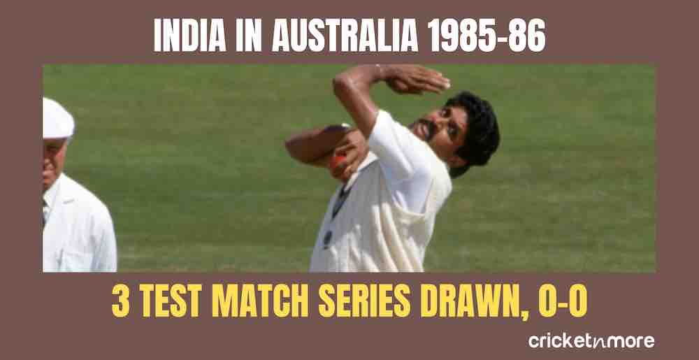 India In Australia 1985 86 Images in Hindi