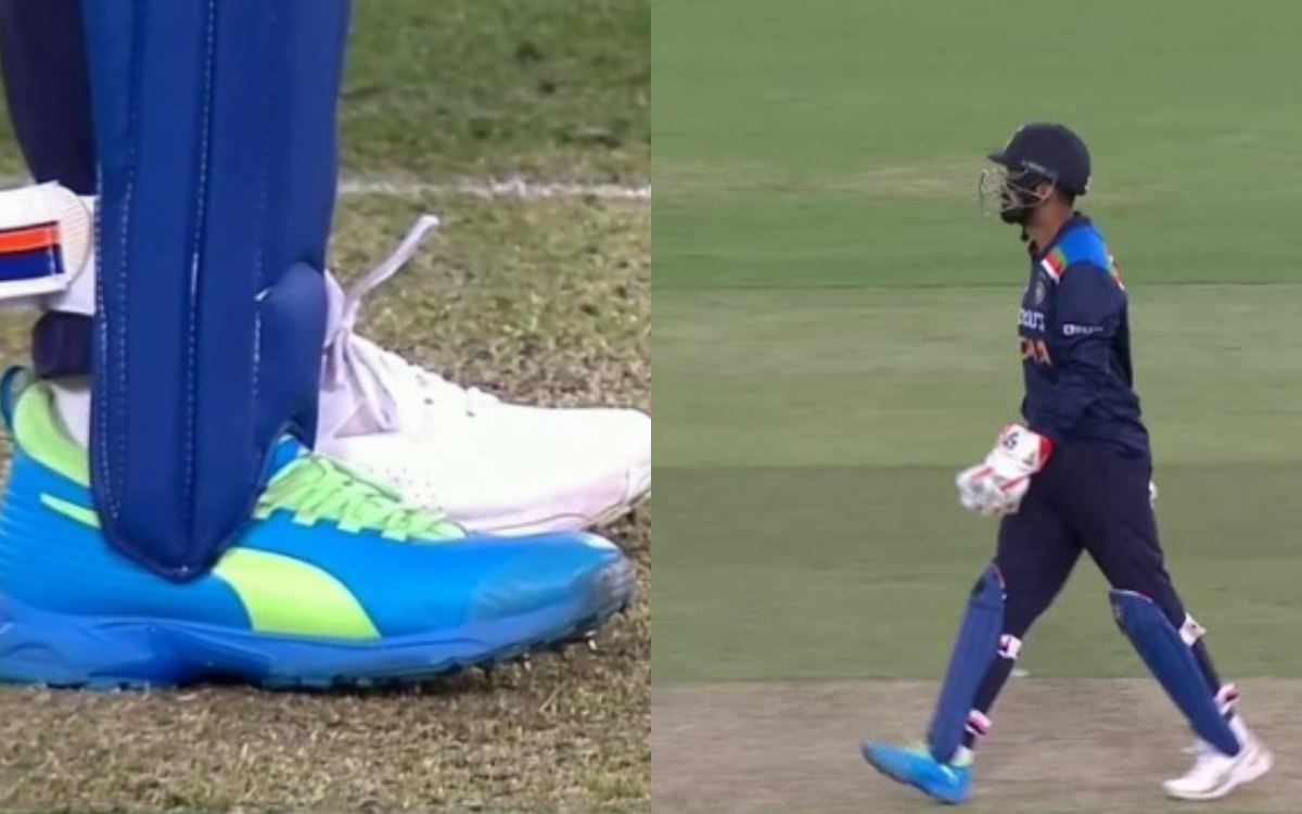 KL Rahul wearing two different shoes against Australia gets trolled by users in hindi