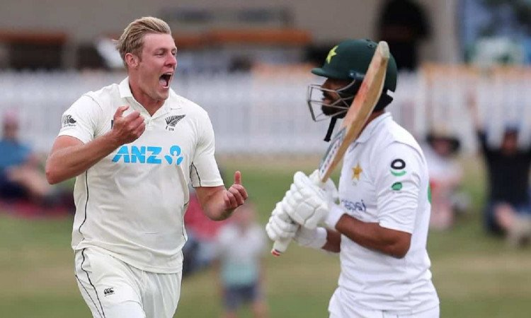 Image of Cricket Kyle Jamieson Fined 25% of Match Fee