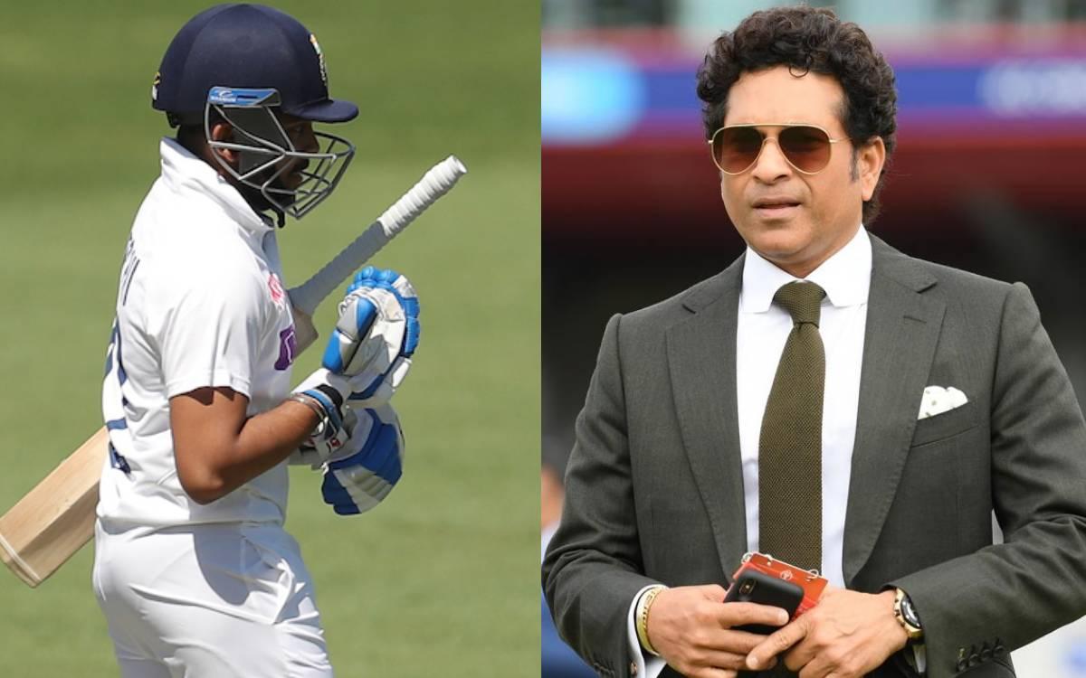 Prithvi Shaw's bat and foot reacting late to ball says Sachin Tendulkar