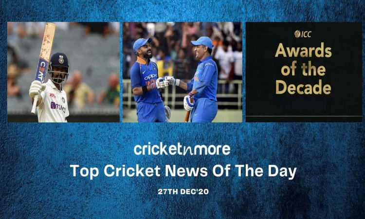 Top Cricket News Of The Day 27th Dec