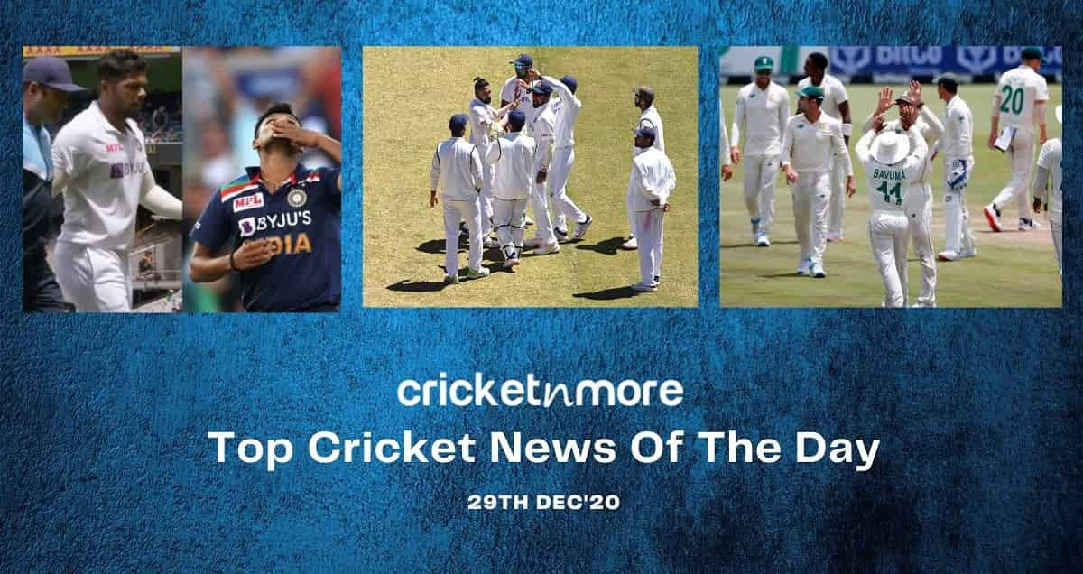 Top Cricket News Of The Day 29th Dec