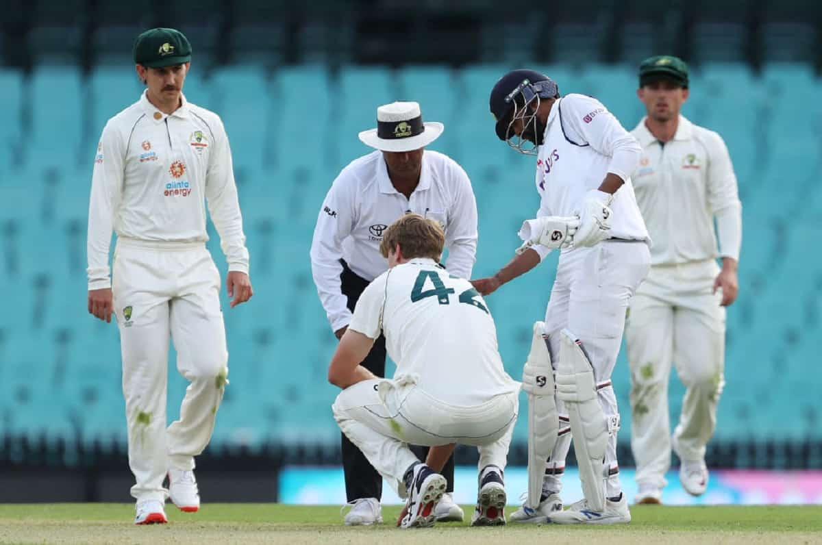 image for cricket cameron green hit on the head